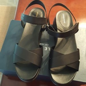 Cole Haan ZeroGrand Black Crisscross Sandal